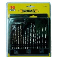 Набор сверл Works C1603 (16 шт)